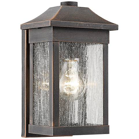 "Artcraft Morgan 10 1/2"" High Rust Outdoor Wall Light"
