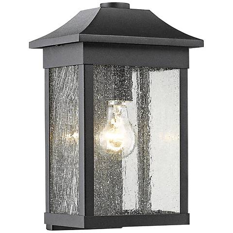 "Artcraft Morgan 13"" High Black Outdoor Wall Light"