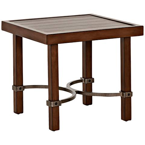 Klaussner Trisha Yearwood Coffee Square Outdoor End Table