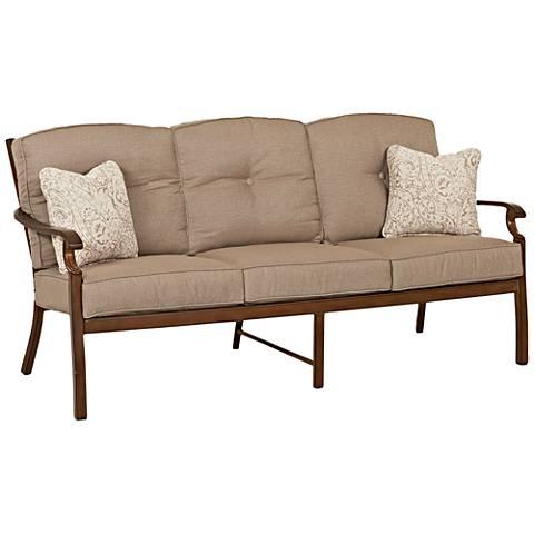 Klaussner Trisha Yearwood Beige Fabric Coffee Outdoor Sofa