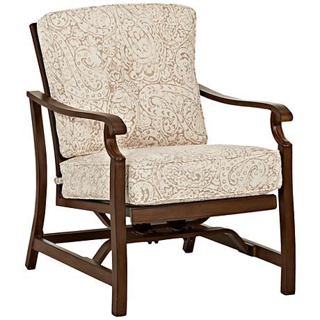 Trisha Yearwood Beige and Coffee and Coffee Outdoor Armchair
