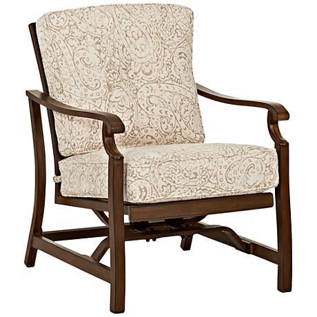 Trisha Yearwood Beige Fabric Coffee Outdoor Motion Armchair
