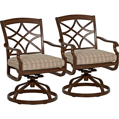 Trisha Yearwood Coffee Outdoor Rocking Dining Chair Set of 2