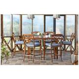 Klaussner Trisha Yearwood Denim Outdoor Bar Chair Set of 2
