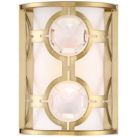"Possini Euro Decadence Gem 10 1/4""H Satin Brass Wall Sconce"
