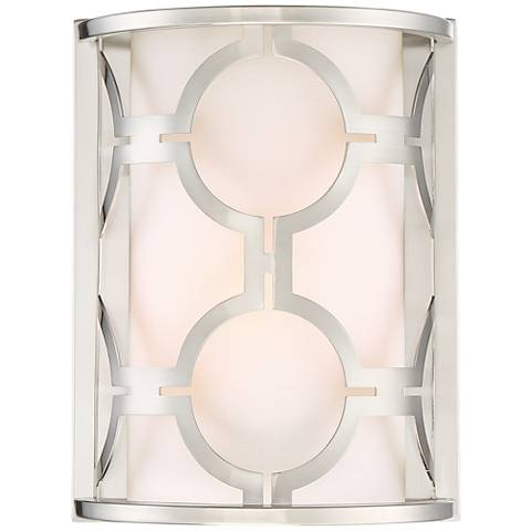 "Possini Euro Decadence 10 1/4""H Brushed Nickel Wall Sconce"