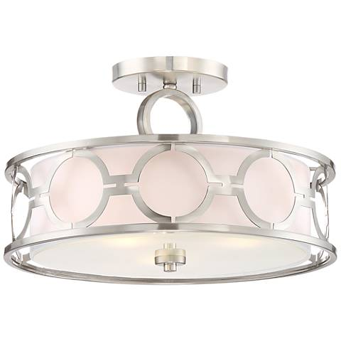"Possini Euro Decadence 16 1/2""W Brushed Nickel Ceiling Light"