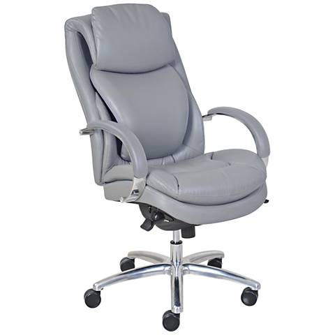 Serta® Commercial Gray Faux Leather Executive Chair