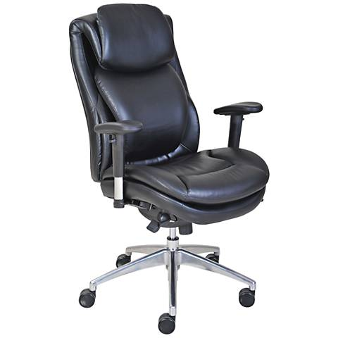 Serta® Commercial 200 Black Faux Leather Task Chair
