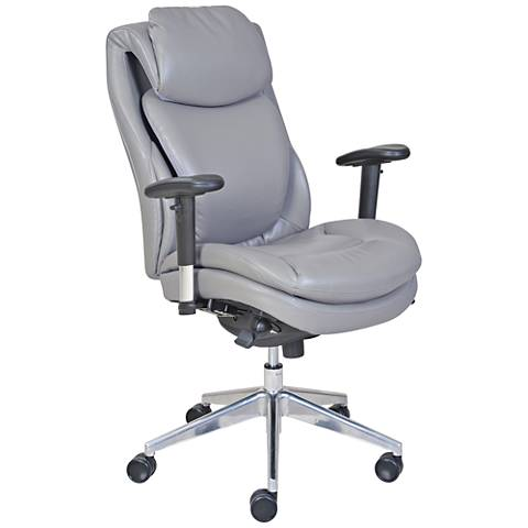 Serta® Commercial 200 Gray Faux Leather Task Chair