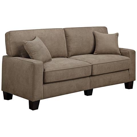 """Serta® RTA Martinique 78""""W Dominica Earth Fabric Sofa"""