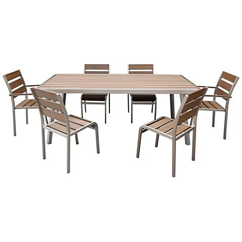 Zuo Bob 7-Piece Outdoor Dining Set