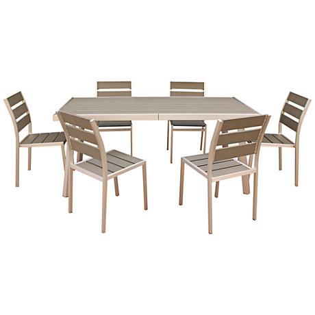 Zuo Chris 7-Piece Outdoor Dining Set