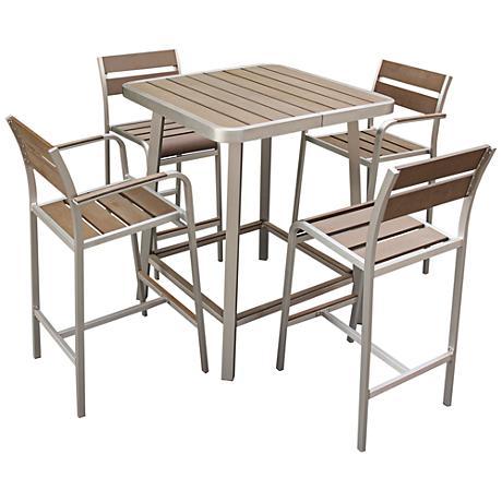 Zuo Dan 5-Piece Outdoor Bar Table Set