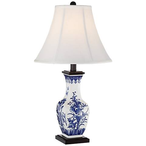 Benoit Blue And White Ceramic Table Lamp 9j439 Lamps Plus