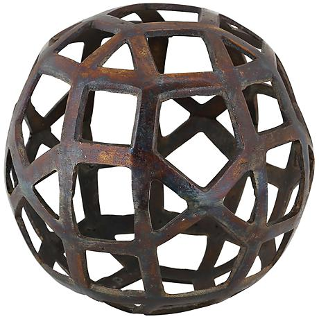 """Expedition Statue I 6 1/2"""" Round Metal Decorative Ball"""