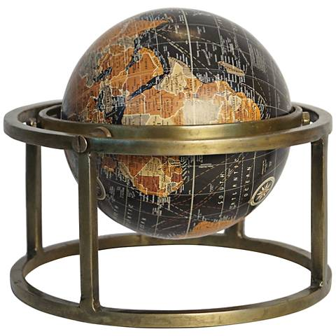 "Renwick 10"" Wide Iron and Brass Traditional Globe"
