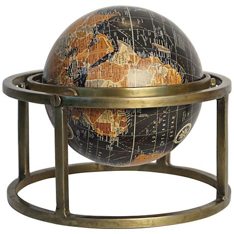 "Renwick 10"" Wide Iron and Brass Traditional Globe"