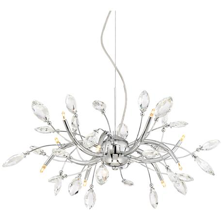 "Cantor 27 1/2"" Wide 10-Light Chrome with Crystal Chandelier"