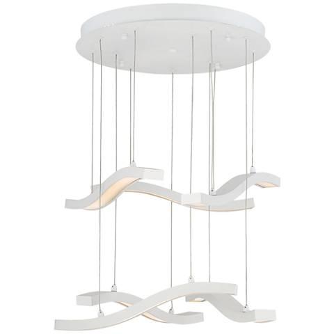 Possini Euro Tipton White LED Pendant Light