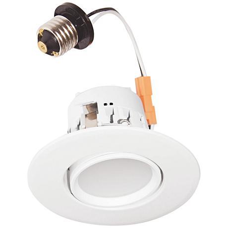 "4"" White Adjustable Gimbal 7 Watt LED Retrofit Trim"