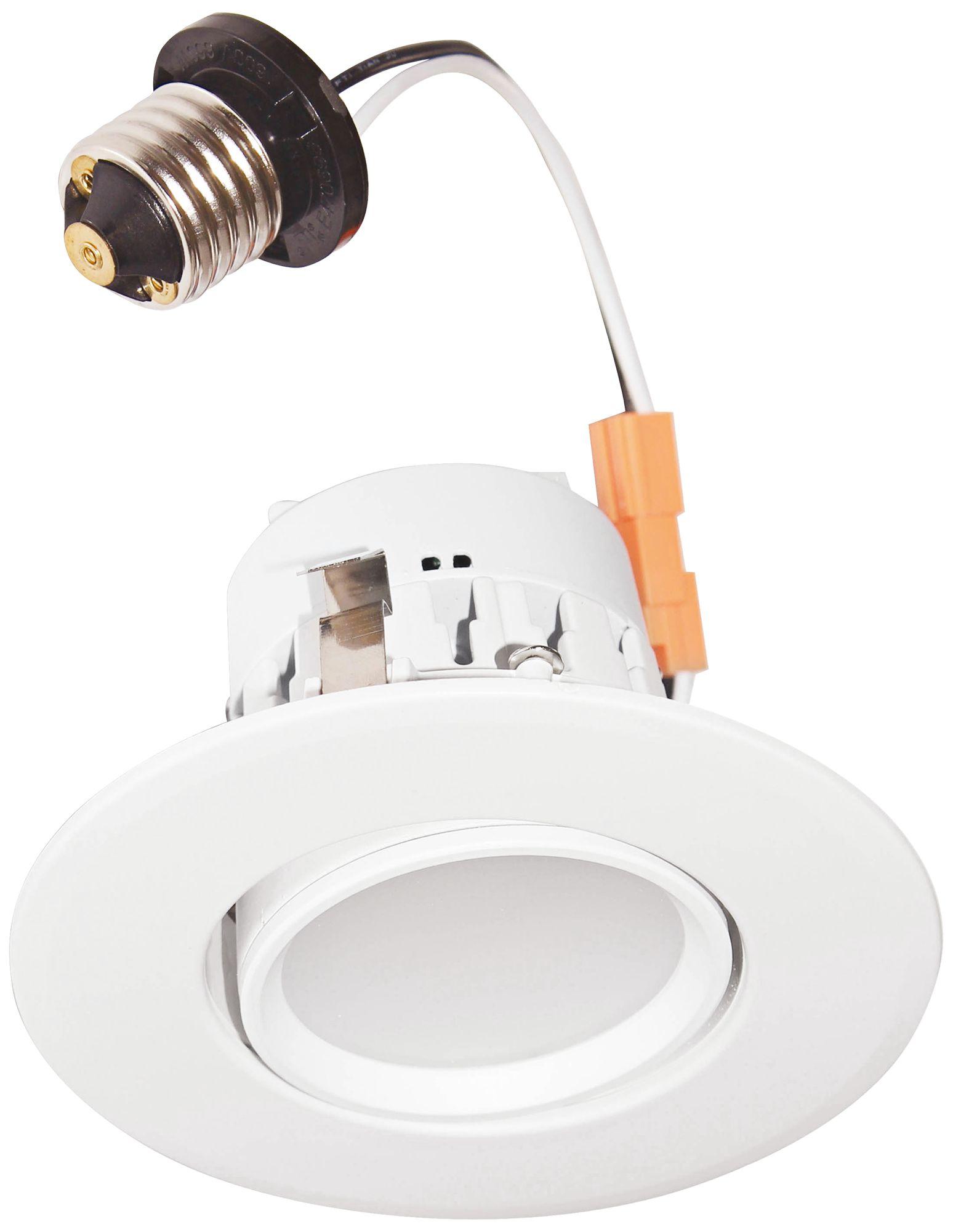 4  T24 Compliant White Gimbal 8 Watt LED Retrofit Trim  sc 1 st  L&s Plus & 4