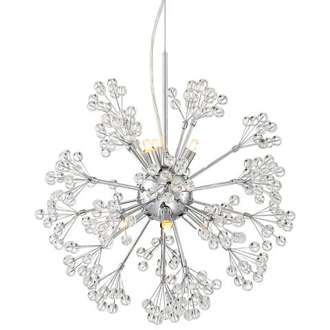 "Possini Euro Crystal Sprig 18 1/2"" Wide Chrome Chandelier"