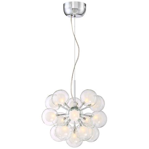 "Vaiola 16"" Wide 16-Light Glass Orb Pendant"