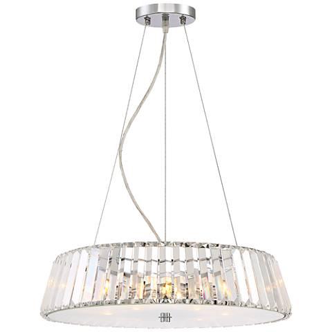 """Possini Euro Navan 18 3/4"""" Wide Crystal Pendant Light"""