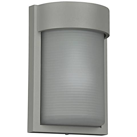 "Destination 9 3/4"" High Satin LED Outdoor Wall Light"