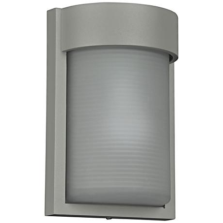 "Destination 9 3/4"" High Satin LED Outdoor Wall Light"