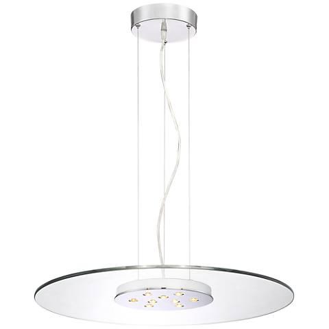 """Possini Euro Rexton 23 1/2""""W Clear Glass LED Pendant Light"""