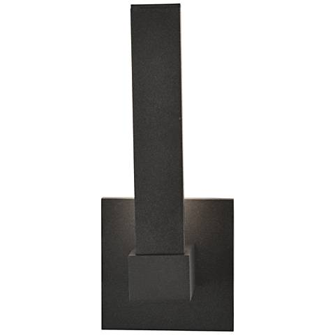 "Vertical 11"" High Bronze LED Outdoor Wall Light"
