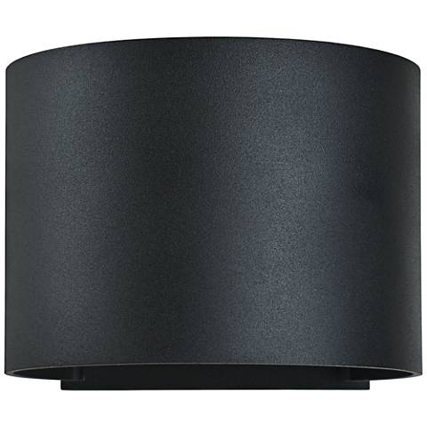 "Curve 4 1/2"" High Black 2-Light LED Outdoor Wall Light"
