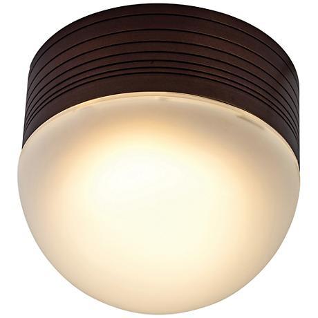 "MicroMoon 5"" High Bronze LED Outdoor Wall Light"