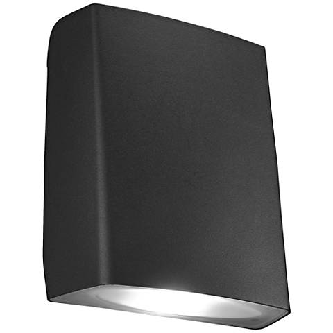 "Adapt 7 1/4"" High Black LED Outdoor Wall Light"