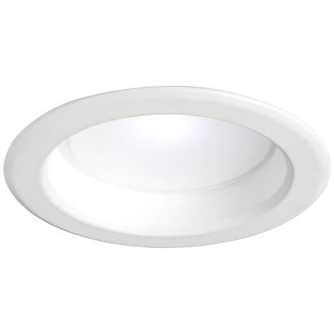 "4"" Plain 10W LED 900 Lumen Dimmable Retrofit Trim in White"