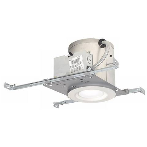 "6"" IC New Construction 15W LED Smooth Trim Recessed Kit"