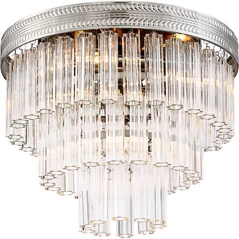 "Candide 14"" Wide Brushed Nickel Ceiling Light"