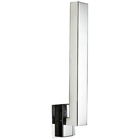 "Teton 18"" High Polished Chrome 5-LED Outdoor Wall Light"