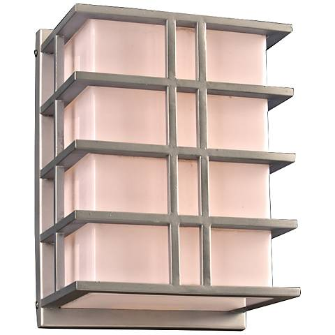 "Amore 13 3/4"" High Silver Outdoor Wall Light"