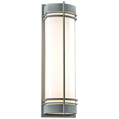 "Telford 28"" High Silver Outdoor Wall Light"