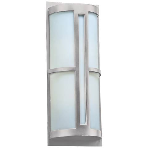 "Rox 21 3/4"" High Silver Outdoor Wall Light"