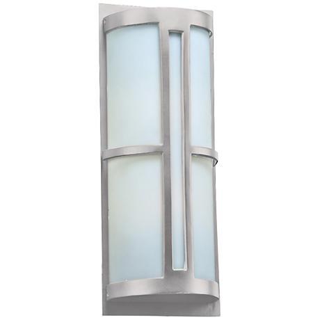 """Rox 21 3/4"""" High Silver Outdoor Wall Light"""