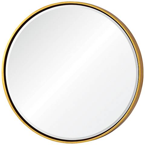 "Wren Gold 30"" Round Framed Wall Mirror"