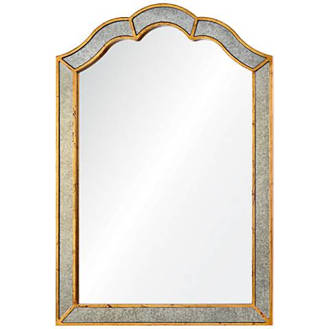 "Huntington Antiqued Gold 36"" x 42"" Framed Wall Mirror"