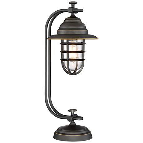 Franklin Iron Works Knox Oil Rubbed Bronze Lantern Desk