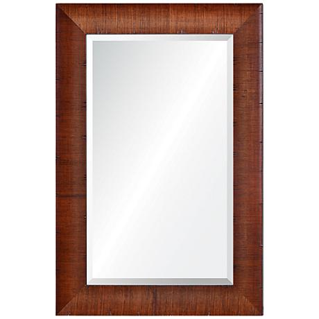 "Moran Woodgrain 34"" x 36"" Framed Rectangular Wall Mirror"