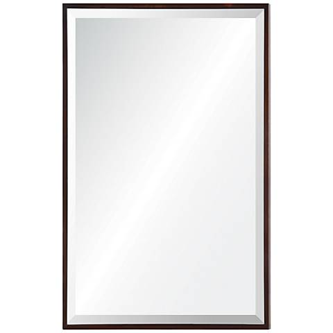 "Hansen Mocha 24"" x 36"" Rectangular Framed Wall Mirror"