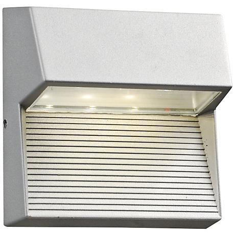 "Faro 6"" High Silver Outdoor 3-LED Wall Light"